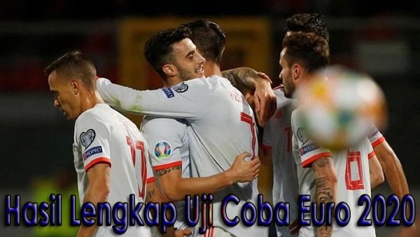 Hasil Lengkap Uji Coba Euro 2020